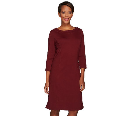 Liz Claiborne New York Bateau Neck Ponte Knit Dress