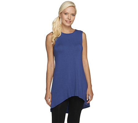 """As Is"" LOGO Layers by Lori Goldstein Petite High Neck Knit Tank"