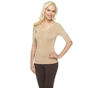 """As Is"" Legacy Slim Disguise Shaper Tee with 3/4 Sleeve - A267958"