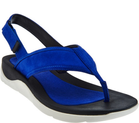 Clarks Artisan Leather Sport Thong Sandals - Caval Kora