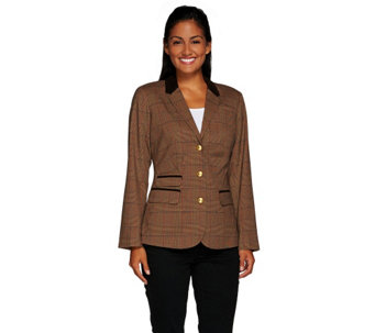 """As Is"" Liz Claiborne New New York Heritage Blazer w/ Suede - A276858"