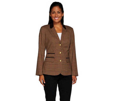 """As Is"" Liz Claiborne New New York Heritage Blazer w/ Suede"