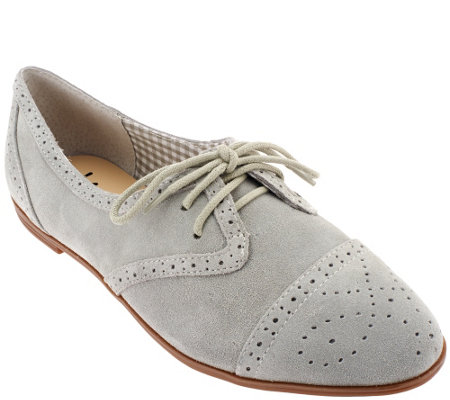 """As Is"" Isaac Mizrahi Live! Suede Oxfords"