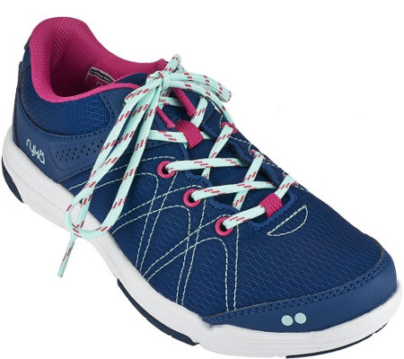 """As Is"" Ryka Lace-up Water Resistant Sneakers - Summit"