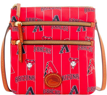 Dooney & Bourke MLB Nylon Diamondbacks Triple Zip Crossbody - A281558