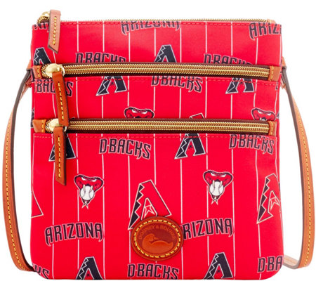 Dooney & Bourke MLB Nylon Diamondbacks Triple Zip Crossbody