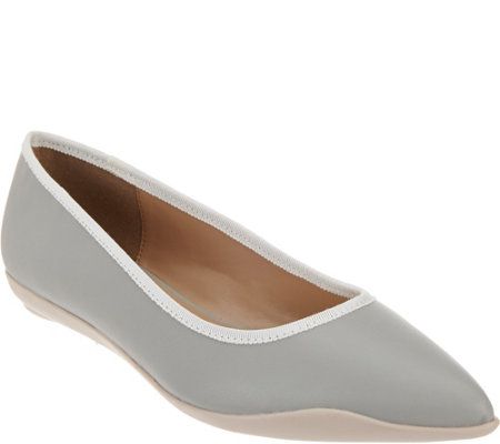 """As Is"" LOGO by Lori Goldstein Pointed Toe Ballerina Flats"