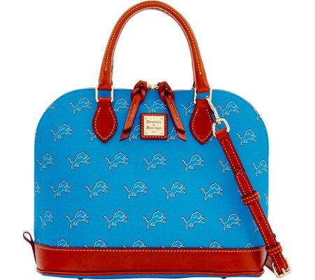 Dooney & Bourke NFL Lions Zip Zip Satchel