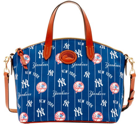 """As Is"" Dooney & Bourke MLB Nylon Yankees Small Satchel"