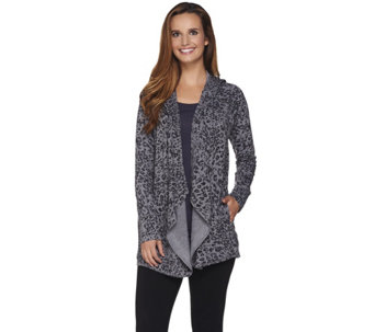 """As Is"" Cuddl Duds Comfortwear Lounge Hoodie Wrap - A289658"