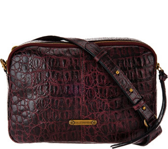 """As Is"" Joelle Hawkens by Treesje Croco Embossed Camera Bag - Lidia - A289858"