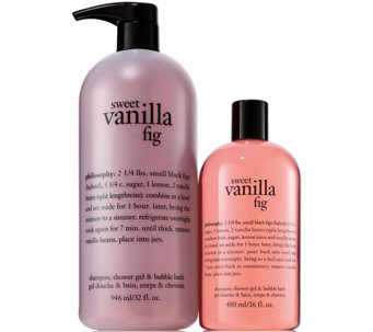 philosophy fresh, creamy & sweet shower gel duo - A291158