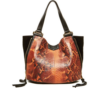 """As Is"" Aimee Kestenberg Pebble Leather Convertible Tote - Sylvie - A291558"