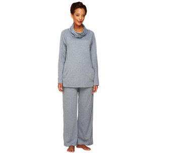 """As Is"" Carole Hochman Heathered Interlock 2 Pc Lounge PJ Set - A293658"