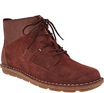 Clarks Leather & Suede Lace-up Ankle Boots - Tamitha Key - A294458