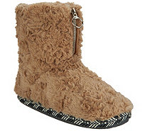 Cuddl Duds Faux Fur Zip-Up Boot Slippers - A296858