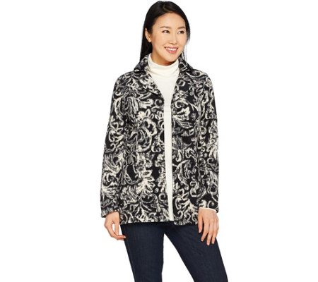 Susan Graver Weekend Printed Polar Fleece Jacket