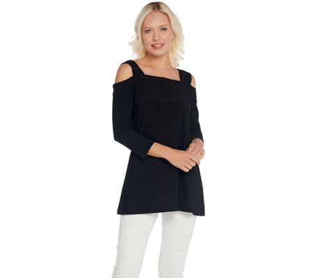 Attitudes by Renee Como Jersey 3/4 Sleeve Tunic