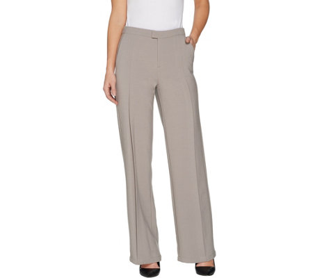 H by Halston Regular Stretch Suiting Wide Leg Pants
