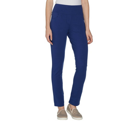 Denim & Co. Active Pull-On Knit Ankle Pants