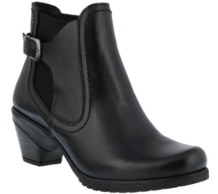 Spring Step Burnished Leather Bootie - Yaa