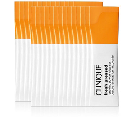 Clinique Fresh Pressed Renewing Powder Cleanser, 28-Count
