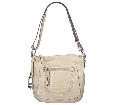 Tignanello Glazed Leather Convertible Crossbody Bag w/Front Pocket