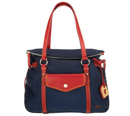 Dooney & Bourke Nylon Smith Bag with Leather Trim