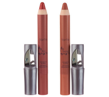 tarte LipSurgence Lip Shine Pencil Duo with Sharpener