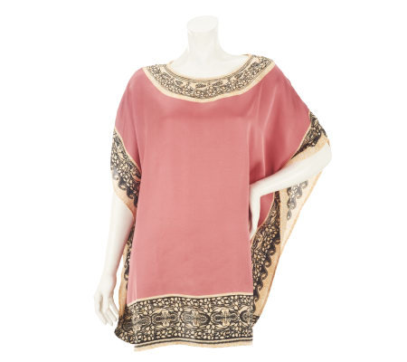 Nicole Richie Collection Border Placement Print Tunic