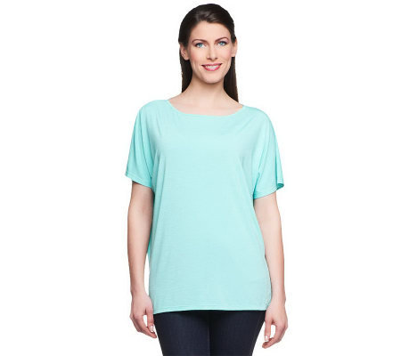 Linea by Louis Dell'Olio Feather Jersey Dolman Sleeve Top