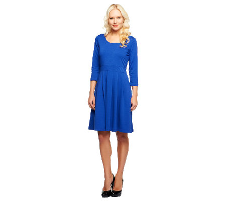 Isaac Mizrahi Live! 3/4 Sleeve Ponte Knit Dress