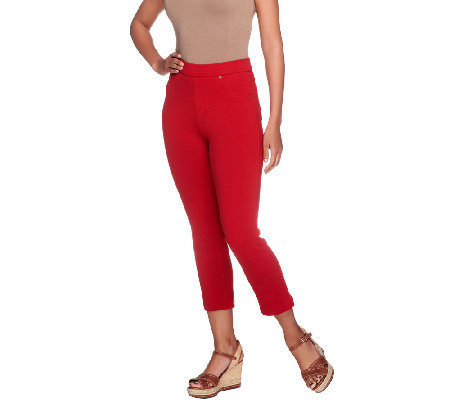 Susan Graver French Knit Crop Length Pull-on Jeggings