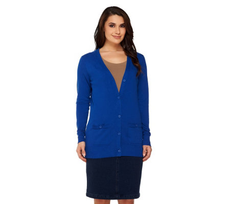 Liz Claiborne New York Essentials Boyfriend Cardigan
