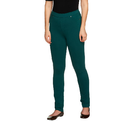 """As Is"" Susan Graver Regular French Knit Jeggings"