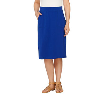 Denim & Co. Active French Terry Skirt with Pockets - A263659