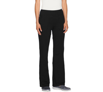Denim & Co. Active French Terry Bootcut Pants with Pockets - A266459