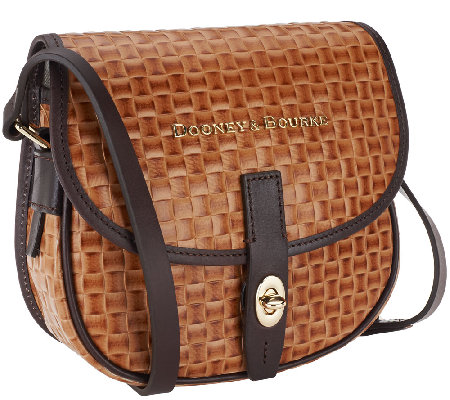 """As Is"" Dooney & Bourke Claremont Woven Field Bag"