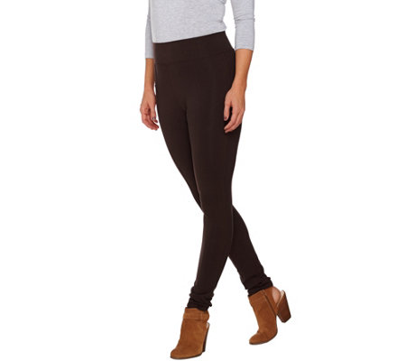 LOGO by Lori Goldstein Seamed Knit Ankle Pants with Pocket
