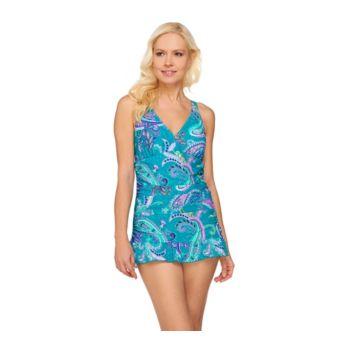 Ocean Dream Signature Island Paisley X-Back Swim Dress