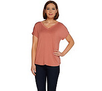 H by Halston Essentials Extended Shoulder Knit Top - A274559