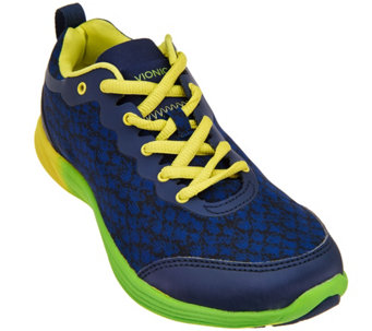 Vionic Orthotic Printed Lace-up Sneakers - Python - A275059