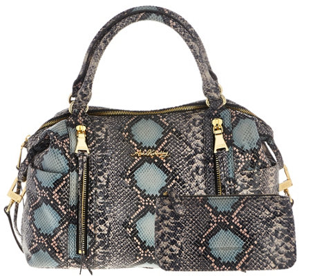 Aimee Kestenberg Pebble Leather Large Satchel & Pouch - Jaylin