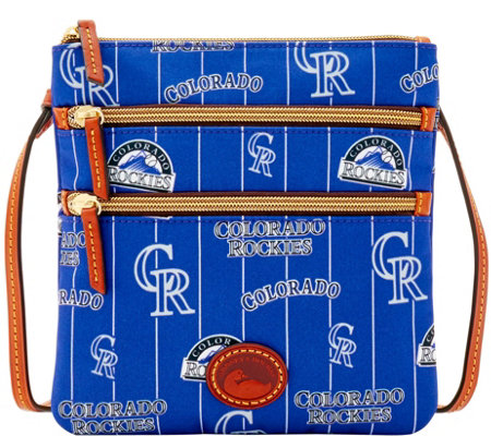 Dooney & Bourke MLB Nylon Rockies Triple Zip Crossbody