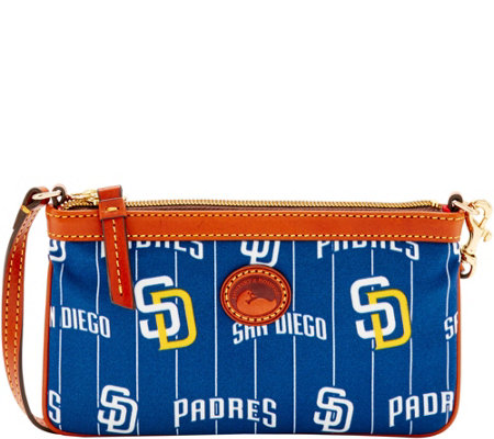 Dooney & Bourke MLB Nylon Padres Large Slim Wristlet