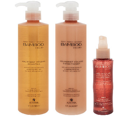 Alterna Bamboo 17oz. Shampoo & Conditioner w/ 4.2oz. Volume Spray