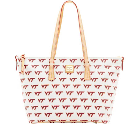 Dooney & Bourke NCAA Virginia Tech University Zip Top Shopper