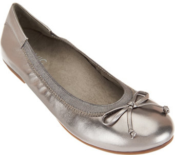 Vionic Orthotic Leather Ballet Flats - Flats - Matira - A284359
