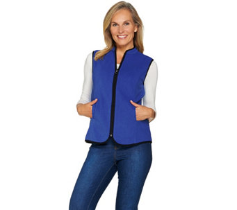 Susan Graver Weekend Polar Fleece Zip Front Vest - A285059