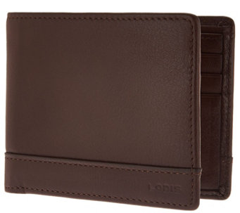 LODIS Men's Italian Leather RFID Bi-fold Wallet - A286159
